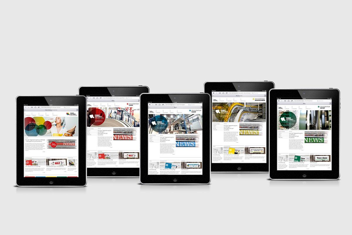FUNKE Zeitungsdruckereien Webdesign00