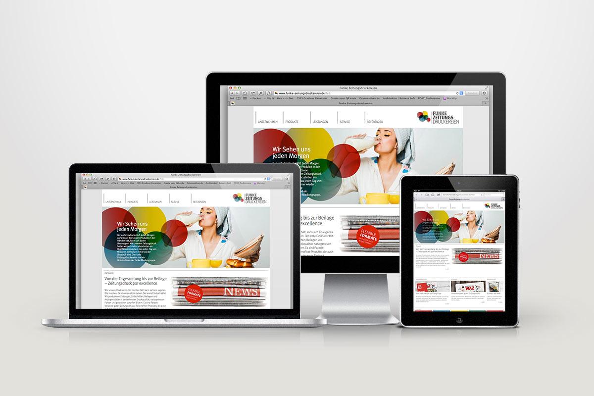 FUNKE Zeitungsdruckereien Webdesign01
