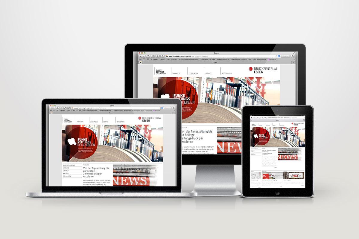 FUNKE Zeitungsdruckereien Webdesign02