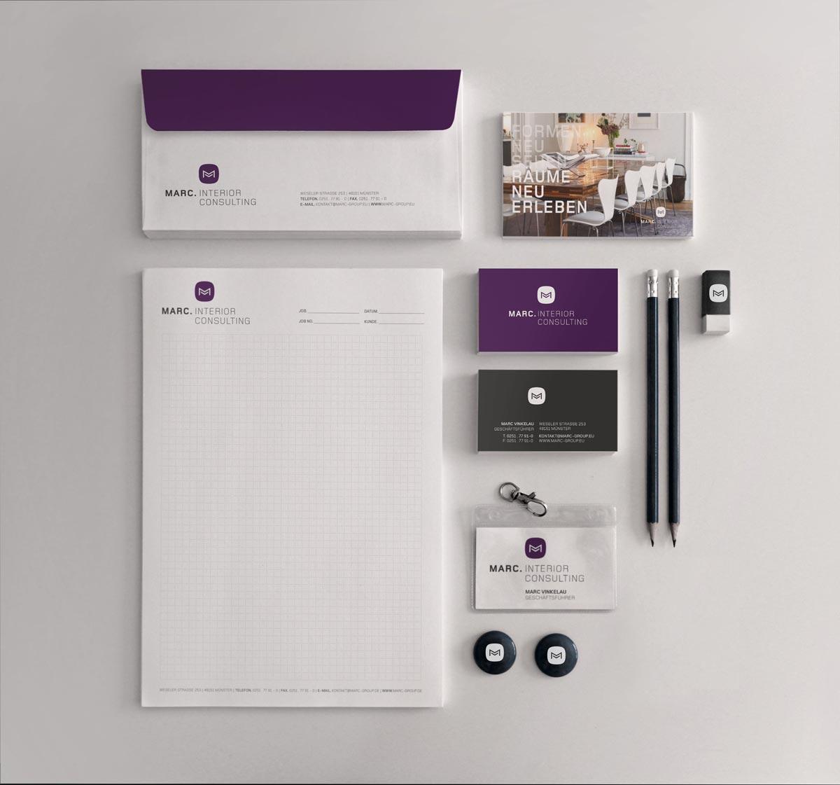 MARC Interior Design Geschäftspapiere