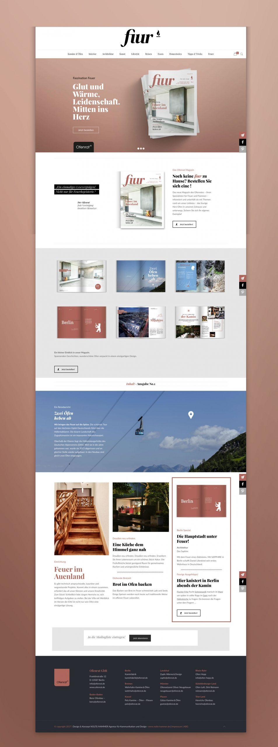 fiur Magazin website