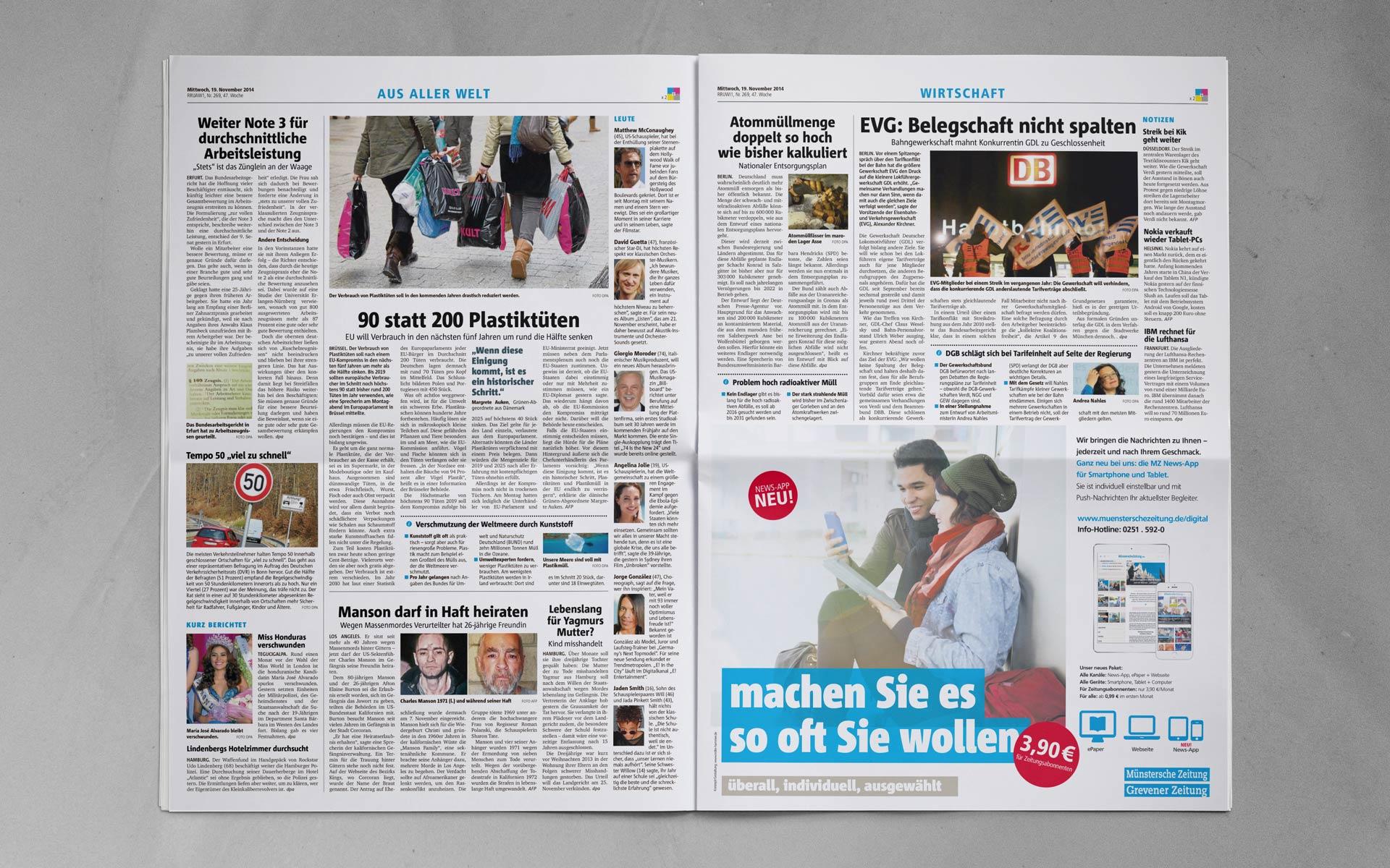 Zeitung Halb 1