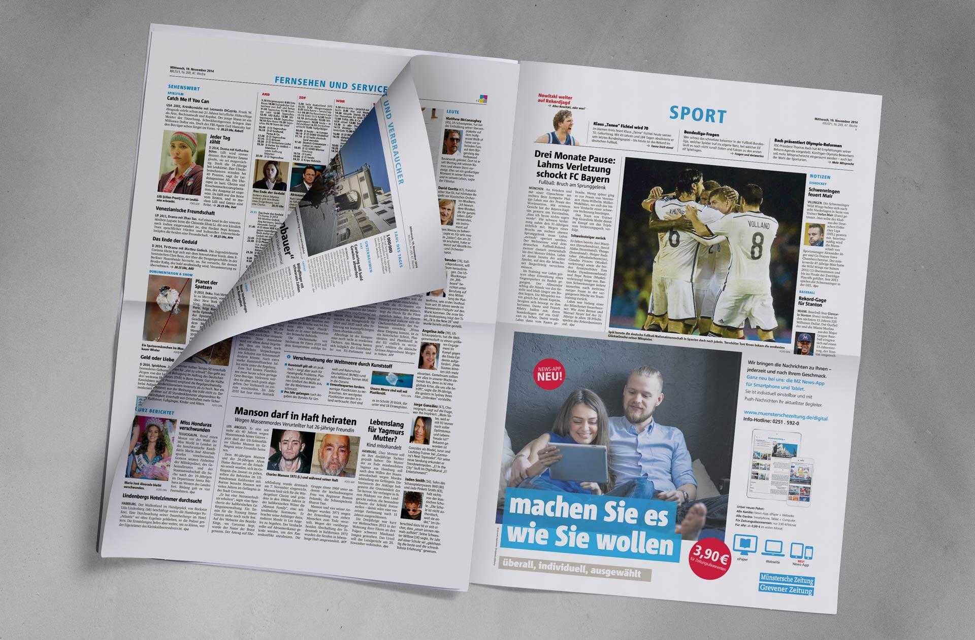 Zeitung Halb 2